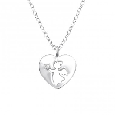 Angle - 925 Sterling Silver Necklaces with silver chains A4S32080
