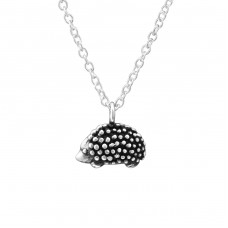 Hedghog - 925 Sterling Silver Necklaces with silver chains A4S32232