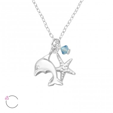 Ocean Lovers - 925 Sterling Silver Necklaces with silver chains A4S32733