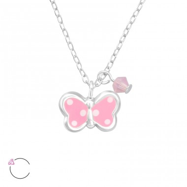 Butterfly - 925 Sterling Silver Necklaces with silver chains A4S32740