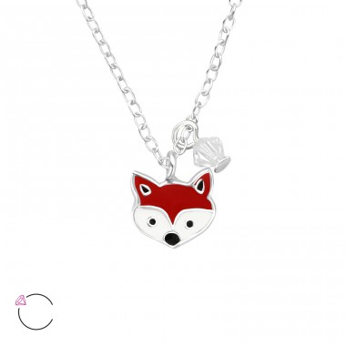 Fox - 925 Sterling Silver Necklaces with silver chains A4S32742