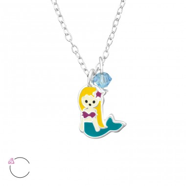 Mermaid - 925 Sterling Silver Necklaces with silver chains A4S32745
