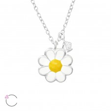 Flower - 925 Sterling Silver Necklaces with silver chains A4S32746