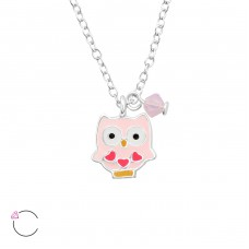 Owl - 925 Sterling Silver Necklaces with silver chains A4S32748