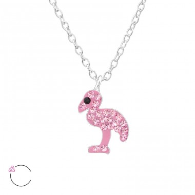 Flamingo - 925 Sterling Silver Necklaces with silver chains A4S32750