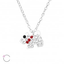 Dog - 925 Sterling Silver Necklaces with silver chains A4S32751