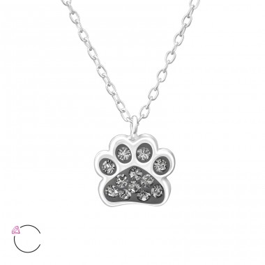 Paw Print - 925 Sterling Silver Necklaces with silver chains A4S32752