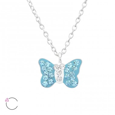 Butterfly - 925 Sterling Silver Necklaces with silver chains A4S32753