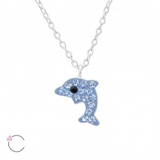 Dolphin - 925 Sterling Silver Necklaces with silver chains A4S32755