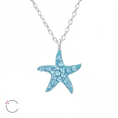 Starfish - 925 Sterling Silver Necklaces with silver chains A4S32756