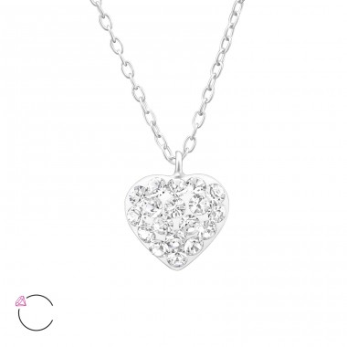 Heart - 925 Sterling Silver Necklaces with silver chains A4S32757
