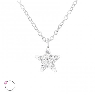 Star - 925 Sterling Silver Necklaces with silver chains A4S32758