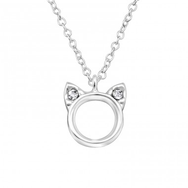 Cat - 925 Sterling Silver Necklaces with silver chains A4S33154