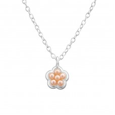 Flower - 925 Sterling Silver Necklaces with silver chains A4S33286