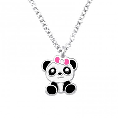 Panda - 925 Sterling Silver Necklaces with silver chains A4S33462