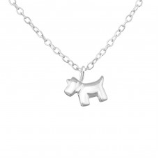 Dog - 925 Sterling Silver Necklaces With Silver Chains A4S34063