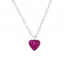Heart - 925 Sterling Silver Necklaces with silver chains A4S34183