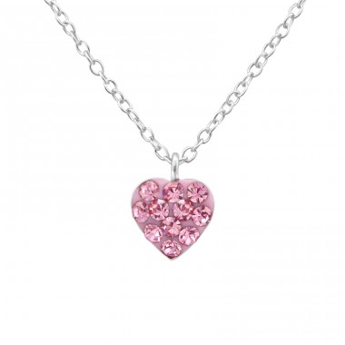 Heart - 925 Sterling Silver Necklaces with silver chains A4S34562