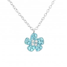 Flower - 925 Sterling Silver Necklaces with silver chains A4S35114