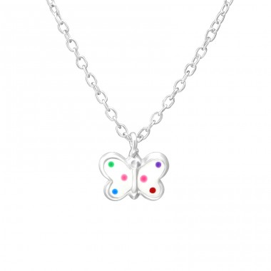 Butterfly - 925 Sterling Silver Necklaces with silver chains A4S35182
