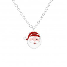 Santa Clause - 925 Sterling Silver Necklaces with silver chains A4S35184