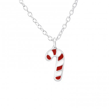Candy Cane - 925 Sterling Silver Necklaces with silver chains A4S35187