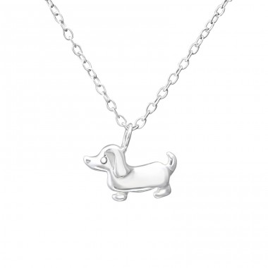 Dog - 925 Sterling Silver Necklaces with silver chains A4S35191