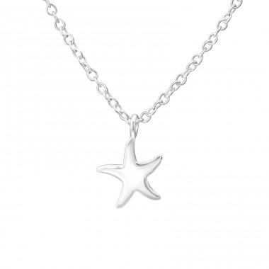 Starfish - 925 Sterling Silver Necklaces with silver chains A4S35274