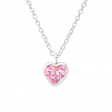 Heart - 925 Sterling Silver Necklaces With Silver Chains A4S35275