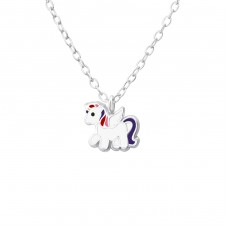 Unicorn - 925 Sterling Silver Necklaces with silver chains A4S35427