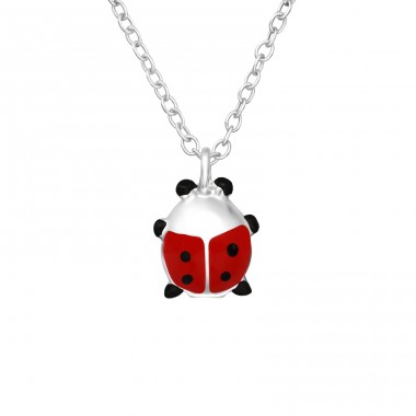 Ladybug - 925 Sterling Silver Necklaces with silver chains A4S35571