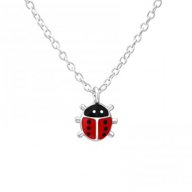 Ladybug - 925 Sterling Silver Necklaces with silver chains A4S35625
