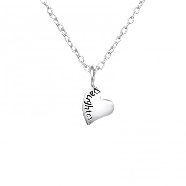 Daughter - 925 Sterling Silver Necklaces With Silver Chains A4S36220