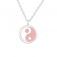 Yin-Yang - 925 Sterling Silver Necklaces with silver chains A4S36706