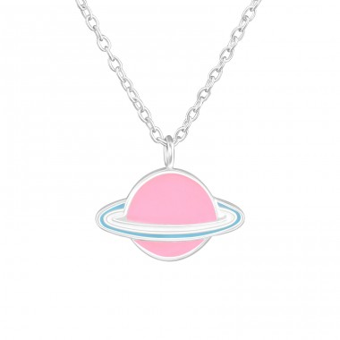 Saturn - 925 Sterling Silver Necklaces with silver chains A4S36708