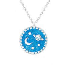 Planet - 925 Sterling Silver Necklaces with silver chains A4S36994