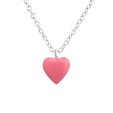 Heart - 925 Sterling Silver Necklaces with silver chains A4S37271