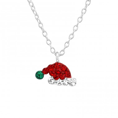 Santa Hat - 925 Sterling Silver Necklaces with silver chains A4S37536