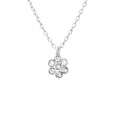 Flower - 925 Sterling Silver Necklaces with silver chains A4S37537