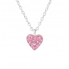 Heart - 925 Sterling Silver Necklaces with silver chains A4S37538