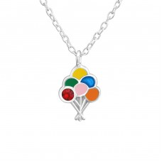 Balloon - 925 Sterling Silver Necklaces with silver chains A4S37539