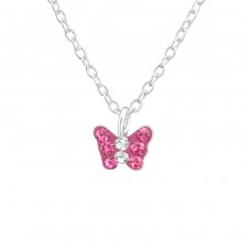 Butterfly - 925 Sterling Silver Necklaces with silver chains A4S37540