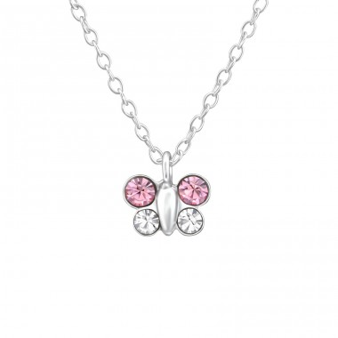 Butterfly - 925 Sterling Silver Necklaces with silver chains A4S37541