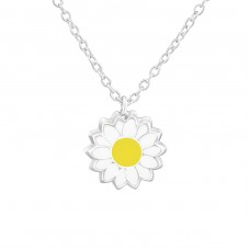 Flower - 925 Sterling Silver Necklaces with silver chains A4S37546