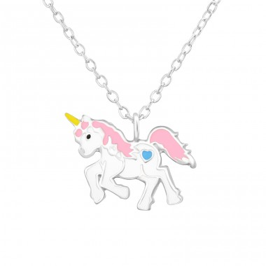Unicorn - 925 Sterling Silver Necklaces with silver chains A4S37569