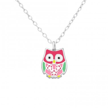 Owl - 925 Sterling Silver Necklaces with silver chains A4S37601