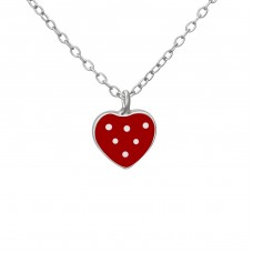 Heart - 925 Sterling Silver Necklaces with silver chains A4S37602