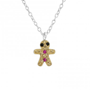 Gingerbread - 925 Sterling Silver Necklaces with silver chains A4S37603