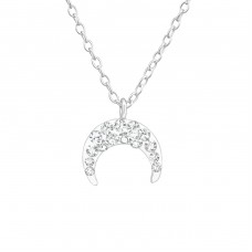 Moon - 925 Sterling Silver Necklaces with silver chains A4S37604