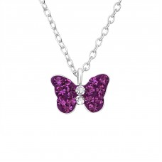 Butterfly - 925 Sterling Silver Necklaces with silver chains A4S37605